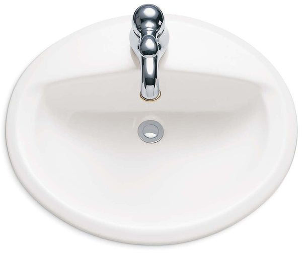 American Standard 0475.047.020 Aqualyn Self Rimming Countertop Sink with...