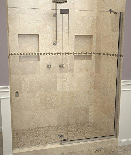 "Tile Redi USA 29VCPNP06076 Redi Swing Shower Door, 76"" x 54-1/16-60, Clear Glass"