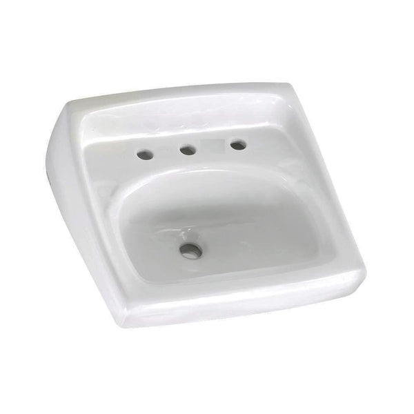 American Standard 0356.028.020 Lucerne Wall-Mount Lavatory Sink with 8-Inch...