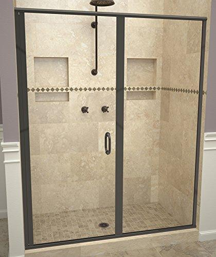 "Tile Redi USA 12RCOLP04776 Redi Swing Shower Door, 76-1/8"" x 46-47"", Clear Glass"