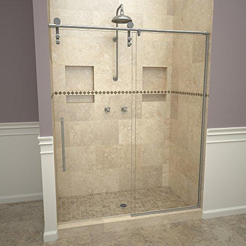 "Tile Redi USA 26VCSHP05976 Slide Shower Door, 76"" x 57-59"", Clear Glass"