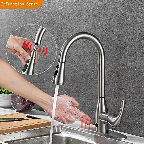 Touchless Kitchen Faucets With Pull Down Sprayer Brushed