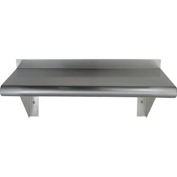 Whitehaus CUWS1024 Culinary Equipment pre-assembled stainless steel shelf with bull nose edge 24""