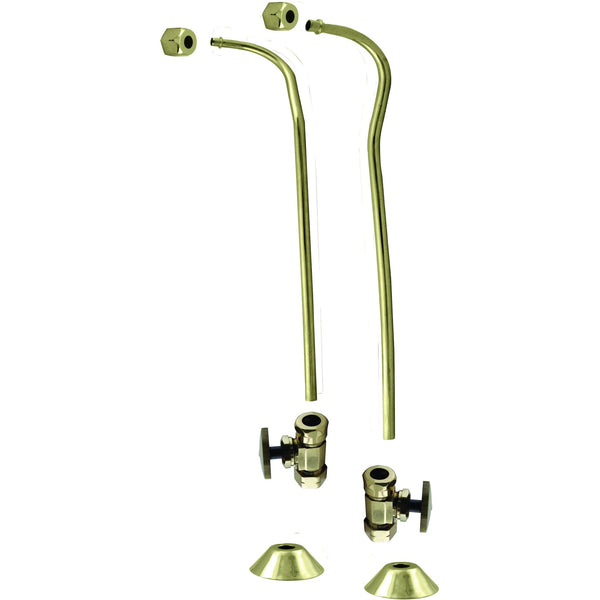 "Westbrass 1/2"" Copper Stops & Double Offset Bath Supply"