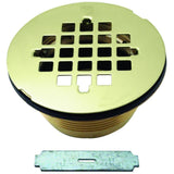 Westbrass Brass Body Compression Shower Drain with Grid