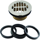 Westbrass Brass Body Swedge-Lock Shower Drain with Grid
