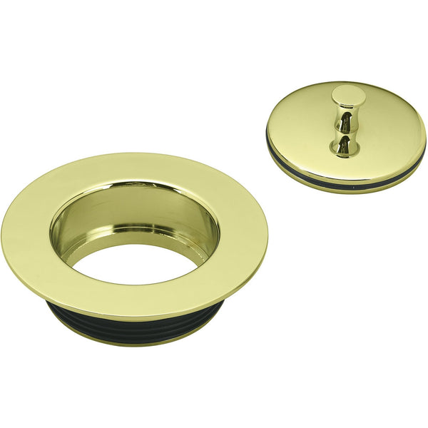 Westbrass Universal Replacement Disposal Flange and Stopper Polished Brass