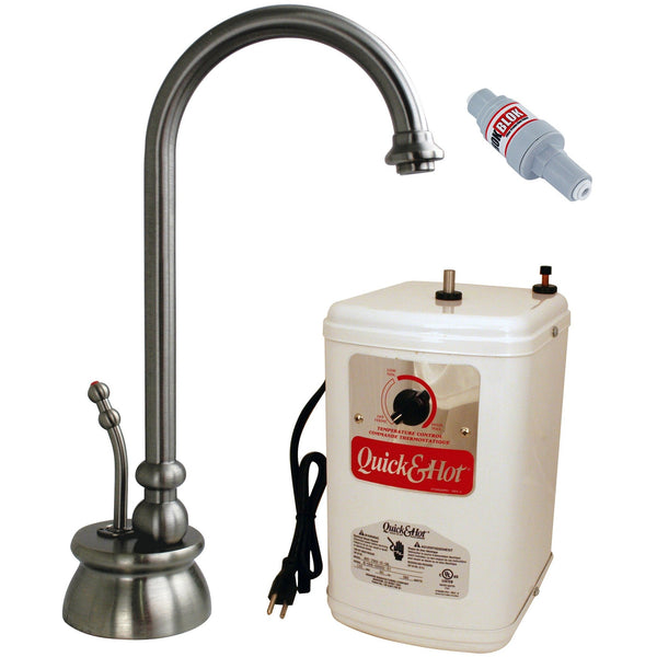 Westbrass Calorah Traditional 10 in. Hot Water Dispenser and Tank