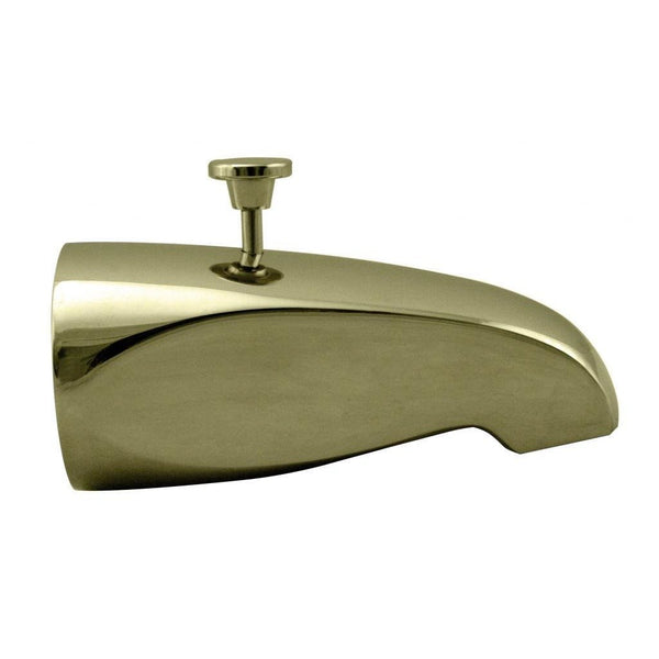Westbrass Rear Diverter 5-1/2 in. Tub Spout