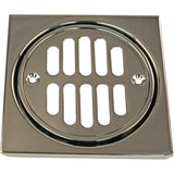 Westbrass D313 Shower Strainer Set Square with Crown