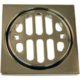 Westbrass Frank Pattern Snap-In Shower Strainer Grill, Square  & Crown