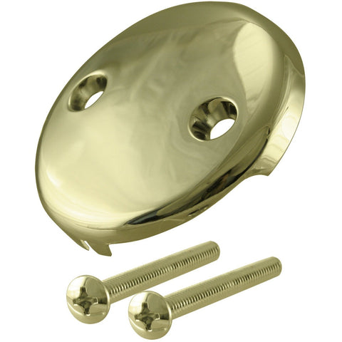 Westbrass- Westbrass 3-1/8 in. Two-Hole Overflow Face Plate and Screws- Bathtub Waste & Overflow- kibasho