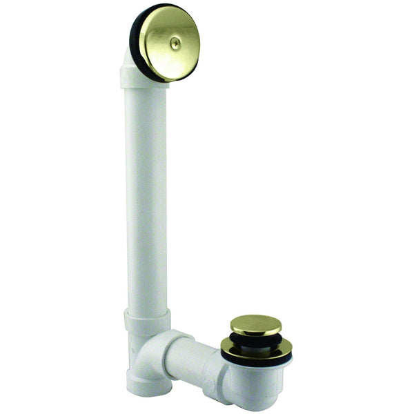 Westbrass Tip Toe Sch. 40 PVC Bath Waste with One-Hole Elbow