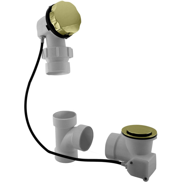 Westbrass Sch. 40 PVC 27 in. Cable Drive Bath Waste - Ball Joint Head