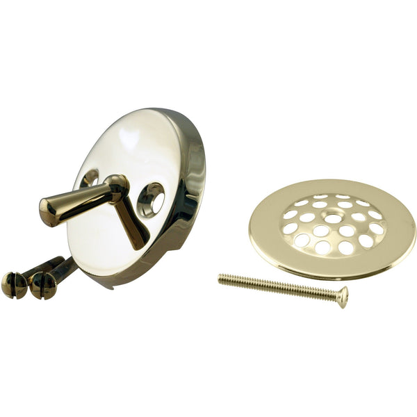 Westbrass Beehive Grid Tub Trim Grate with Trip Lever Faceplate