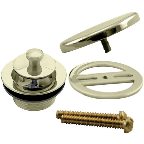 Westbrass Twist & Close Tub Trim Set with Floating Overflow Faceplate