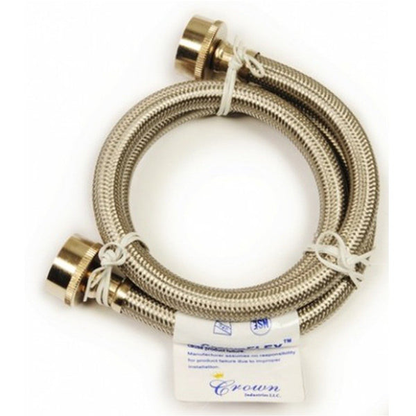 Westbrass Washing Machine Hose -Stainless Steel 3/4 in Hose x 72 in. 163-45272