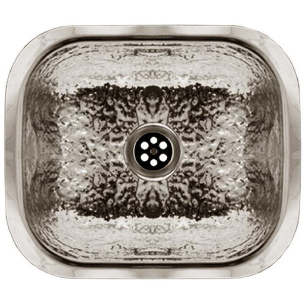 Whitehaus WH690ABB Rectangular undermount entertainment/prep sink with a hammered texture surface