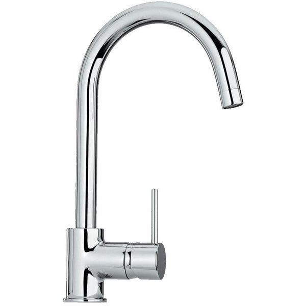 Whitehaus WHLX78572-C Luxe single hole/single lever faucet with gooseneck swivel spout