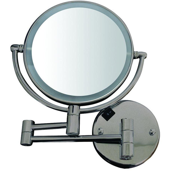 Whitehaus WHMR912 Round Wall Mount Dual Led 7X Magnified Mirror