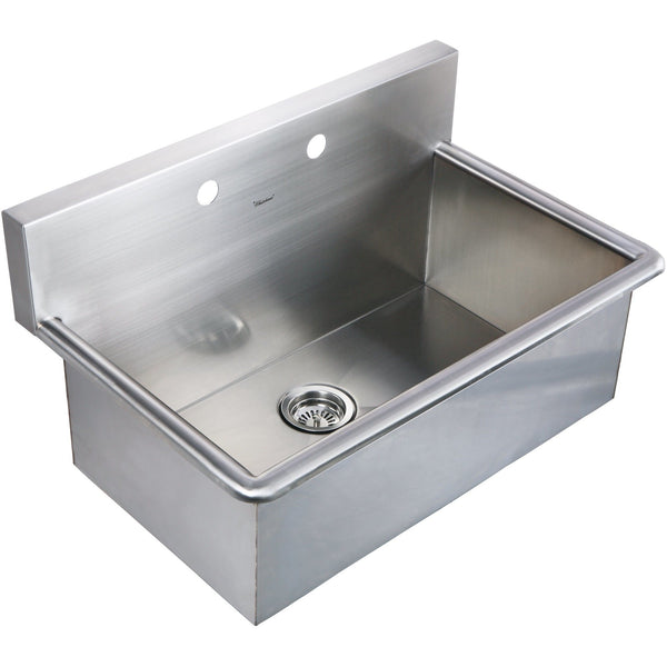 Whitehaus WHNC3120 Noah's Collection Brushed Stainless Steel commercial drop-in laundry-scrub sink