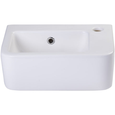 ALFI brand AB101 Small White Wall Mounted Ceramic Bathroom Sink BasinA  simple small porcelain wall mounted bathroom sink is sometimes harder to  find than ...