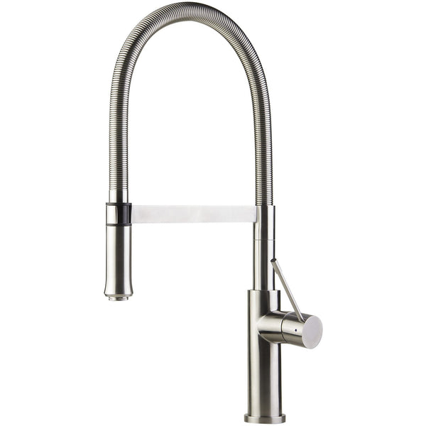 ALFI brand AB2015 Brushed Stainless Steel Gooseneck Single Hole Faucet
