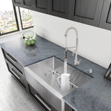 "Vigo 30"" Farmhouse Stainless Steel 16-Gauge Single Bowl Kitchen Sink"