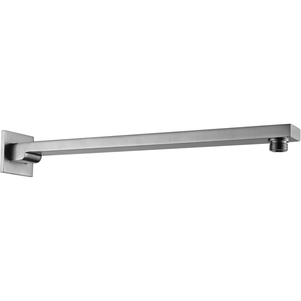 "ALFI brand AB16WS Brushed Nickel/Polished Chrome 16"" Wall Mounted Square Shower Arm"