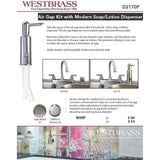 Westbrass Air Gap/Soap Lotion Combination
