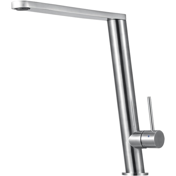 ALFI brand AB2046 Round Modern Brushed/Polished Stainless Steel Kitchen Faucet