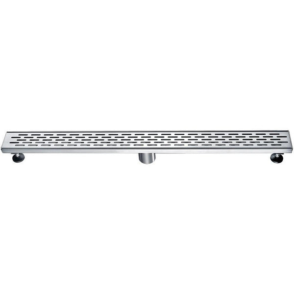 "ALFI brand ABLD32C 32"" Modern Stainless Steel Linear Shower Drain with Groove Holes"