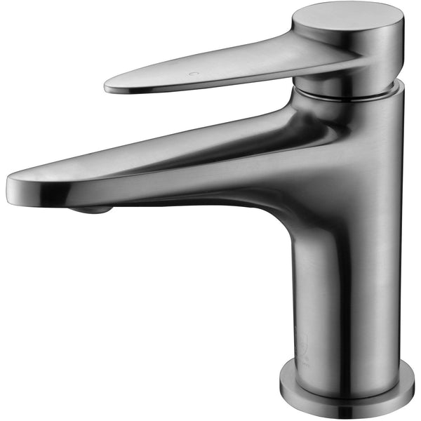 ALFI brand AB1770 Brushed Nickel/Polished Chrome Modern Single Hole Bathroom Faucet