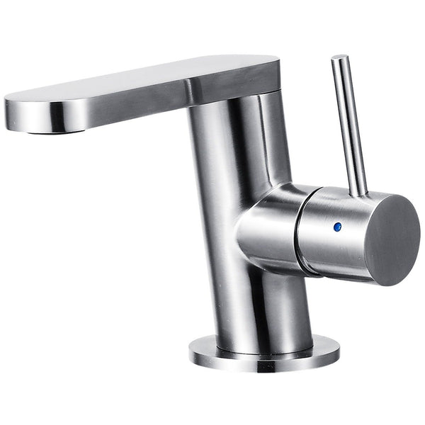 ALFI brand AB1010 Ultra Modern Brushed/Polished Stainless Steel Bathroom Faucet