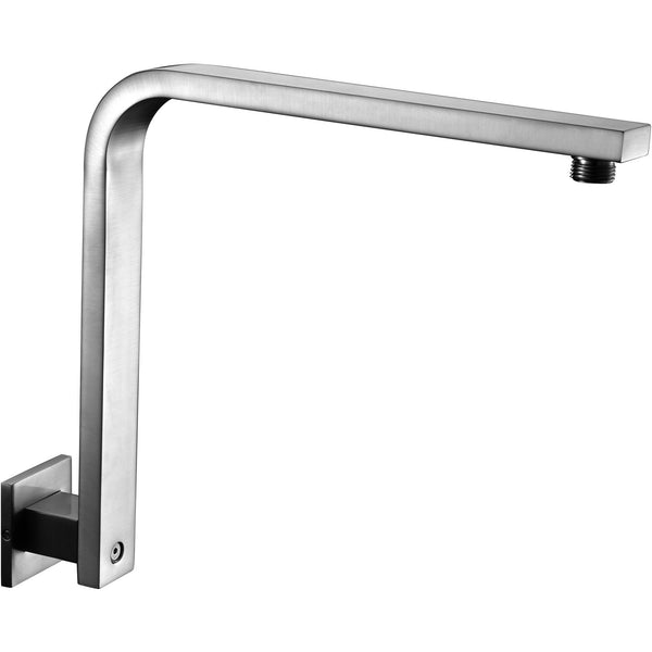 "ALFI brand AB12GSW Brushed Nickel/Polished Chrome 12"" Square Raised Wall Mounted Shower Arm"