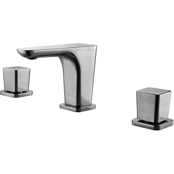 ALFI brand AB1782 Brushed Nickel/Polished Chrome Widespread Modern Bathroom Faucet