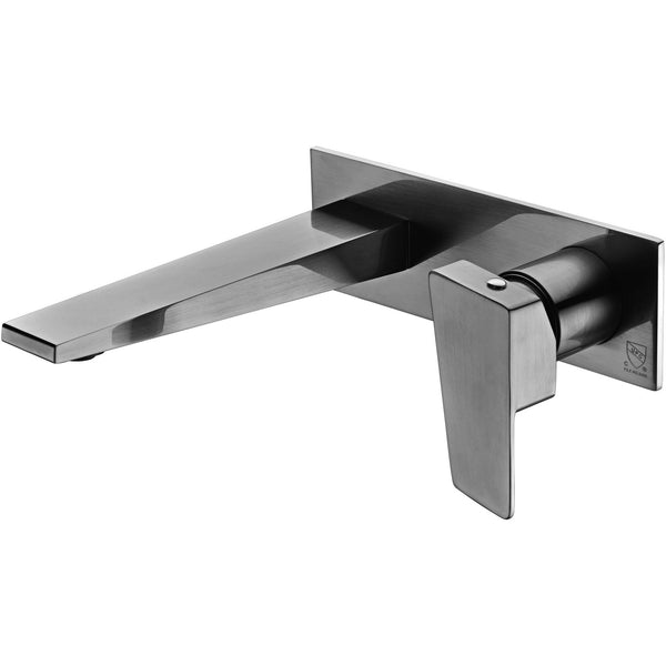 ALFI brand AB1472 Brushed Nickel/Polished Chrome Wall Mounted Bathroom Faucet