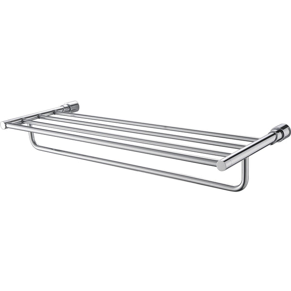 ALFI brand AB9523 Polished Chrome 24 inch Towel Bar & Shelf  Bathroom Accessory