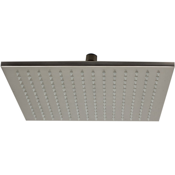 "ALFI brand LED12S Brushed Nickel/Polished Chrome 12"" Square Multi Color LED Rain Shower Head"