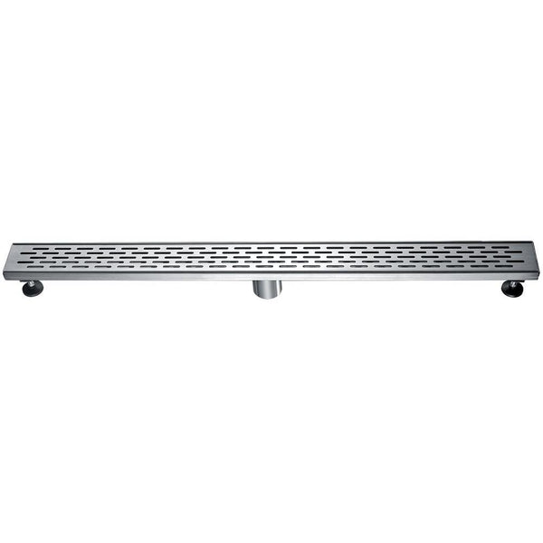 "ALFI brand ABLD36C 36"" Modern Stainless Steel Linear Shower Drain with Groove Holes"