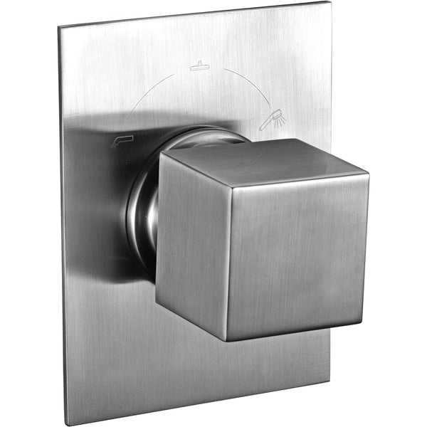 ALFI brand AB9209 Brushed Nickel/Polished Chrome Modern Square 3 Way Shower Diverter