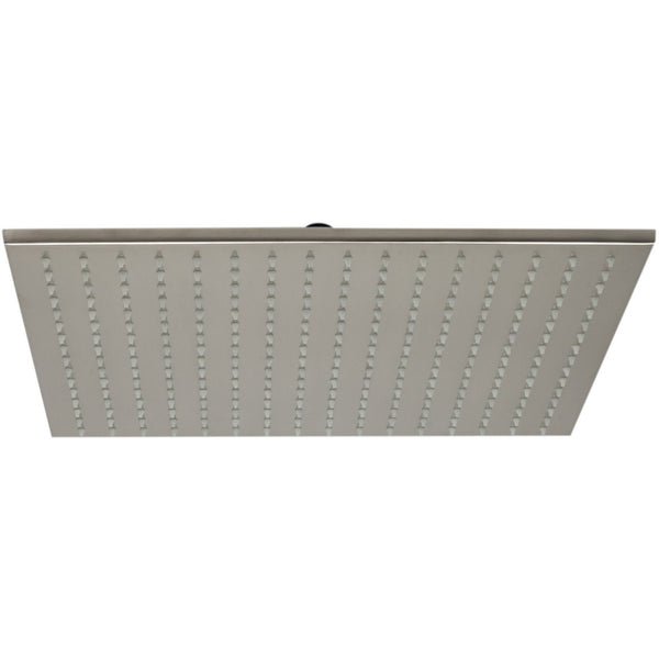 "ALFI brand LED16S Brushed Nickel/Polished Chrome 16"" Square Multi Color LED Rain Shower Head"