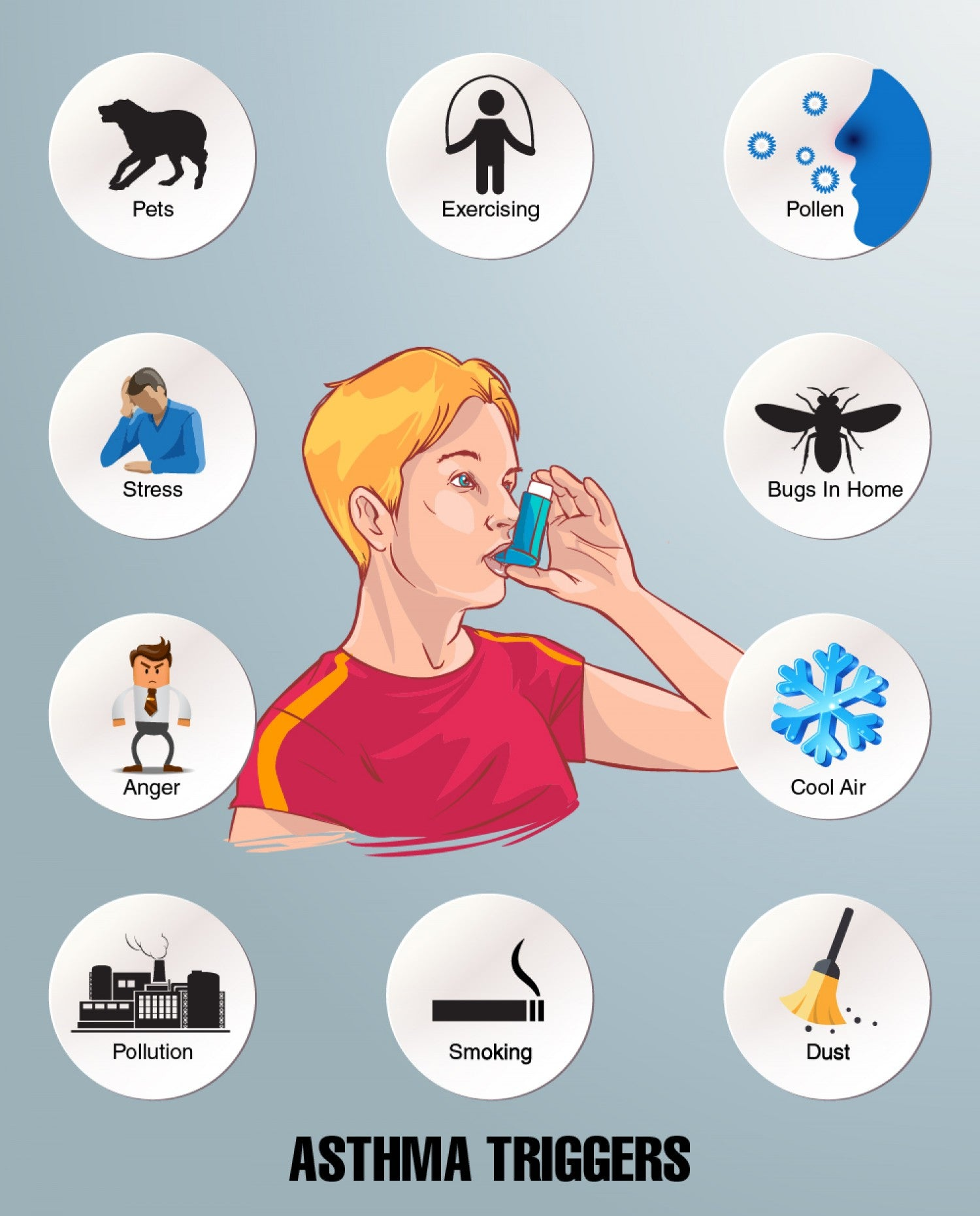 asthma triggers infographic