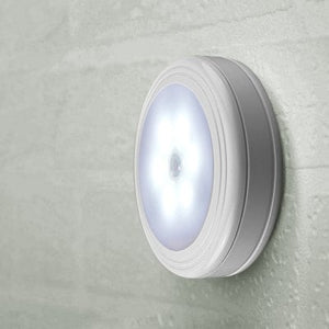 Creative LED Motion Sensor Night Light - WHITE  Battery-powered Safe Stair Lights