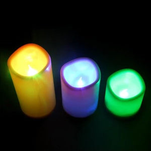 Youoklight YK2271 12 Colors LED Electronic Candle Light 3PCS - WHITE 233617501 Flameless with Remote