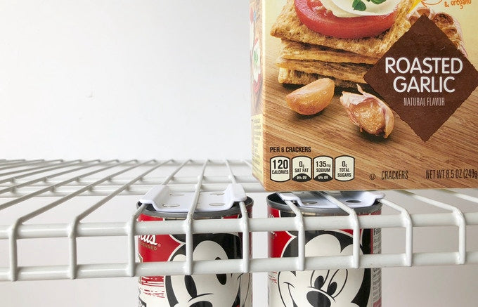 CanLoft, magnetic can hangers for wire and solid shelves