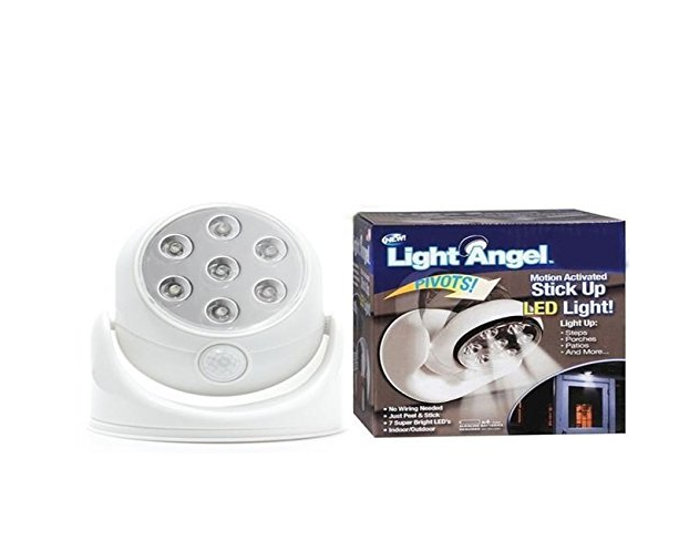HOT SALE Pathway Stair Light Angel PIR Motion Activated Sensor Stick Up 7 LED Cordless