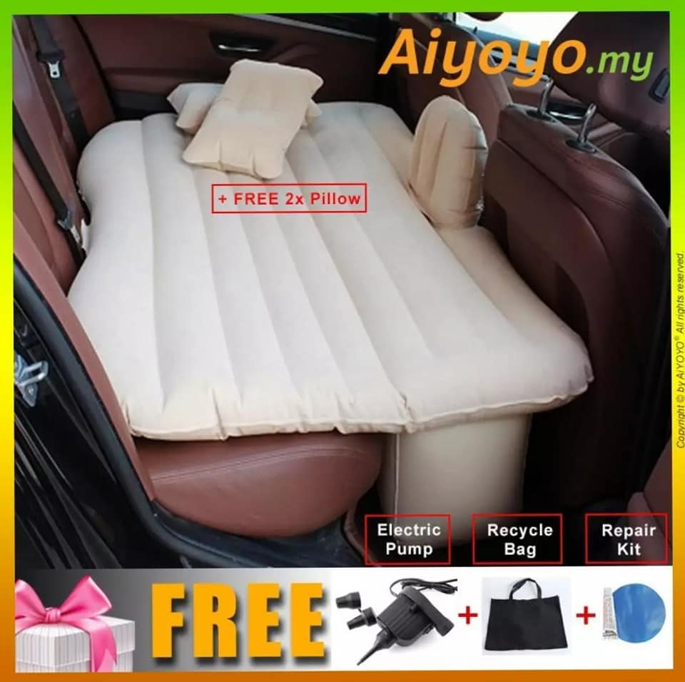 Car Bed Car Air Mattress Car Universal Rear Seat Cushion Air Bed Self-driving Tour Bed For Auto Car Interior Automotive