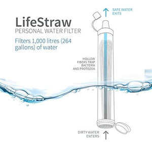 LIFESTRAW LSPHF017 PERSONAL WATER FILTER FOR HIKING, CAMPING, TRAVEL, AND EMERGENCY PREPAREDNESS