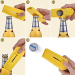 TOODOO 3 Pieces Cap Zappa Cap Shooters Launchers Beer Bottle Opener with Keychain, Orange, Yellow and White